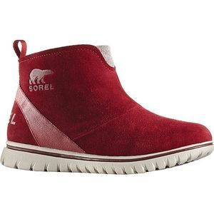Sorel Red Suede Waterproof Ankle Boots Size 7.5